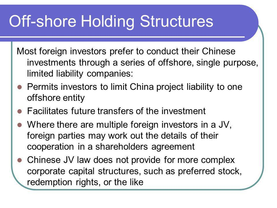 Off-shore Holding Structures