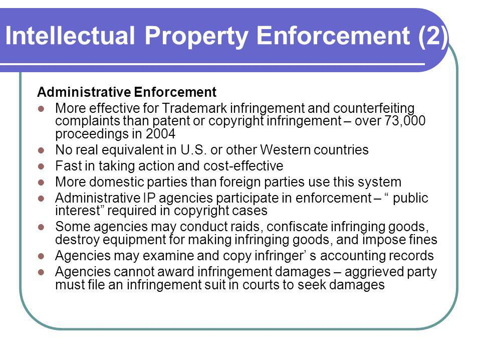 Intellectual Property Enforcement (2)