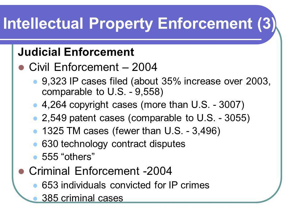 Intellectual Property Enforcement (3)