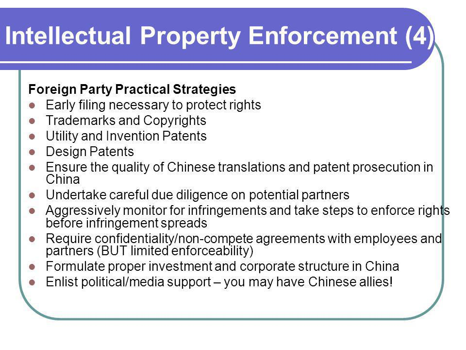 Intellectual Property Enforcement (4)
