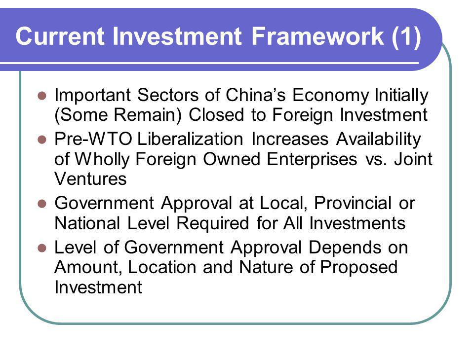 Current Investment Framework (1)