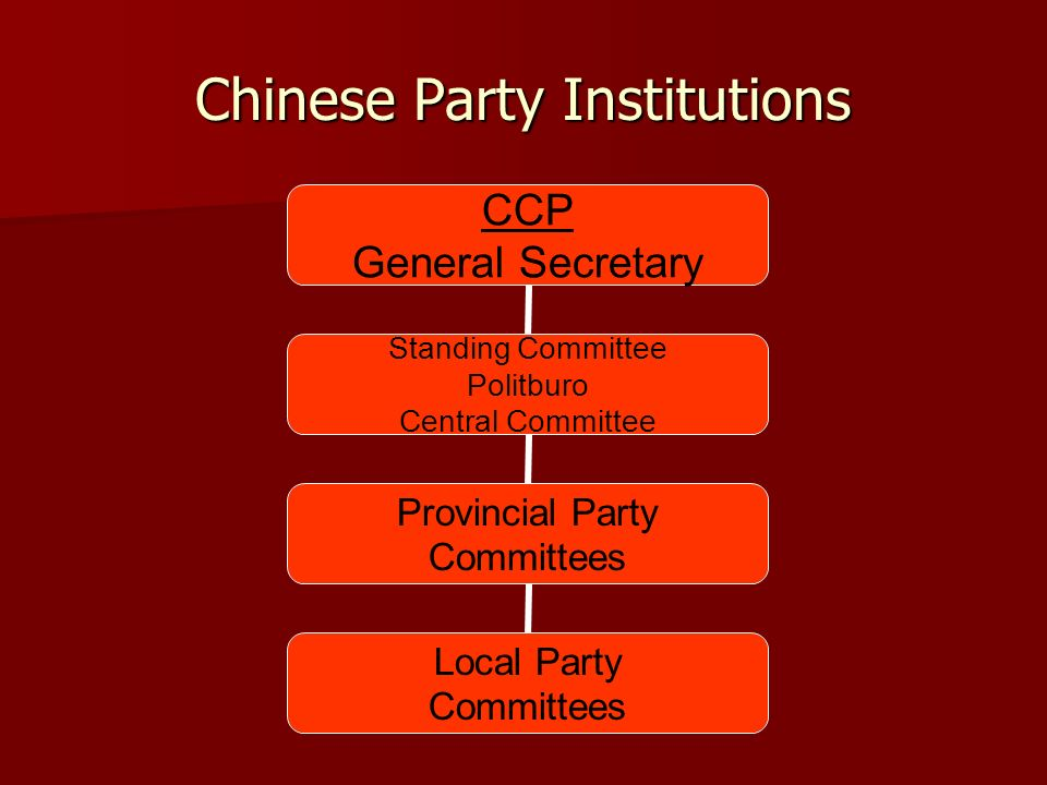 Chinese Party Institutions