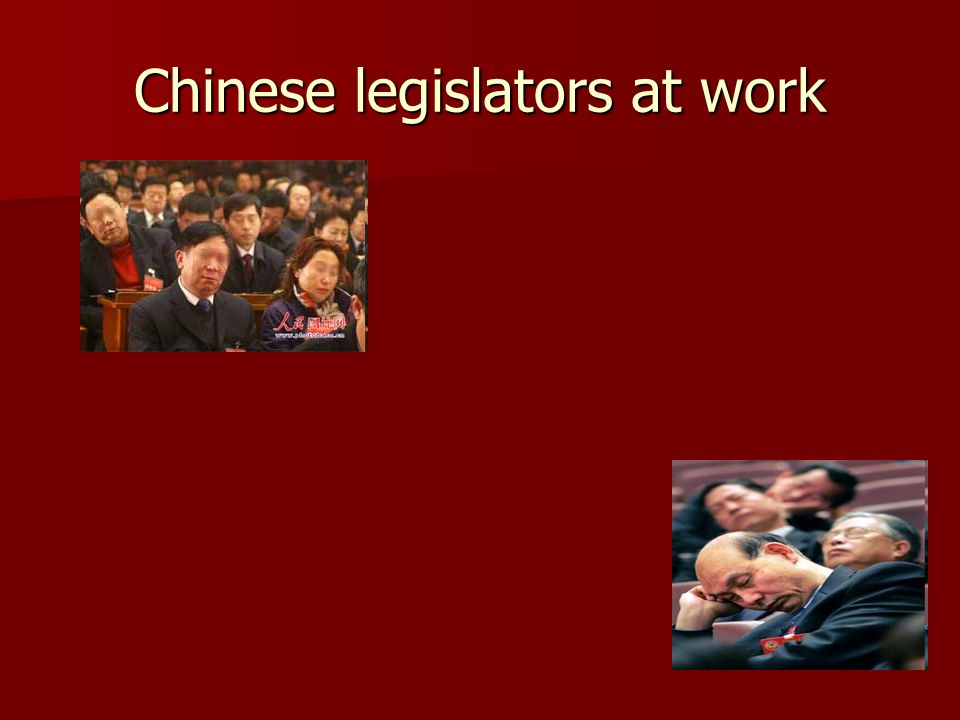 Chinese legislators at work