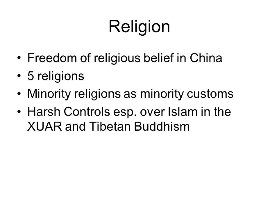 Religion Freedom of religious belief in China 5 religions