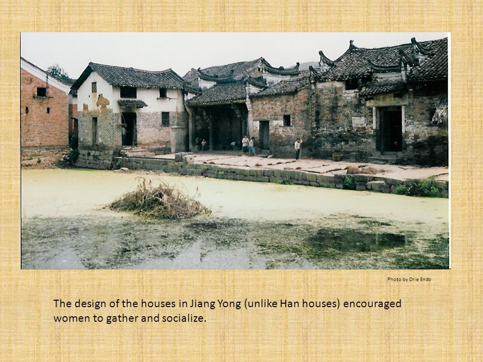 Houses in Jiang Yong had two storeys