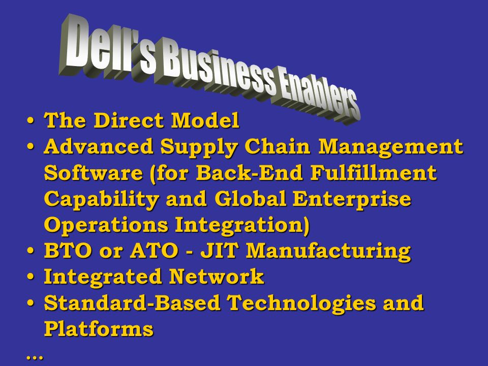 The business models used by dell information technology essay