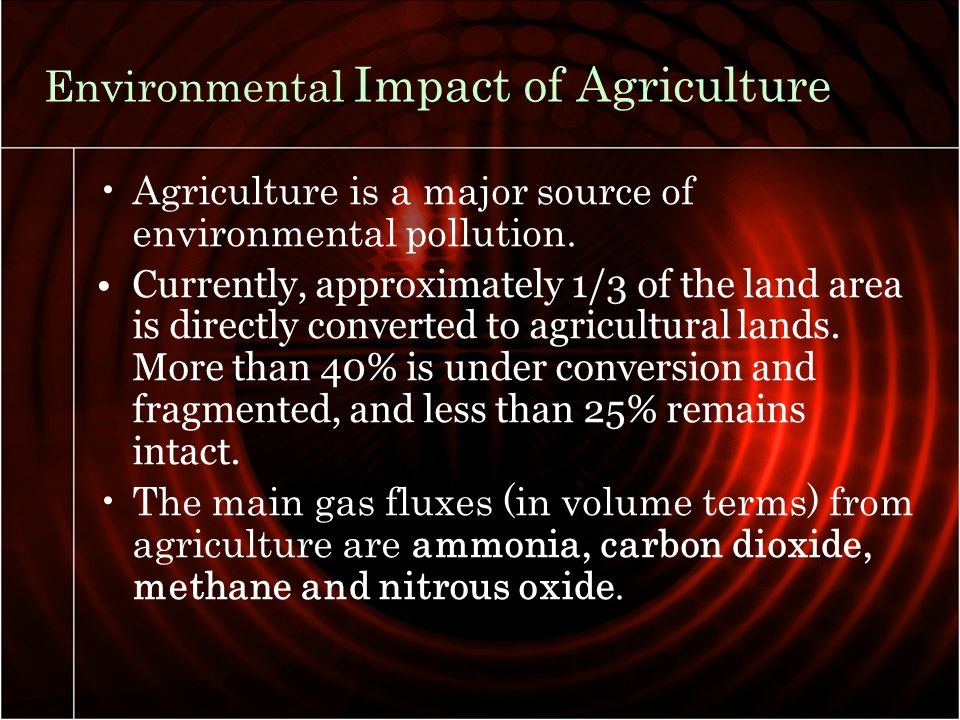 agricultural exploitation human effects environment To sustain the environment via agricultural land tenure and use,there is need to understand the relationship between land tenure and use and environmental sustainability to the nigerian ecosystem.