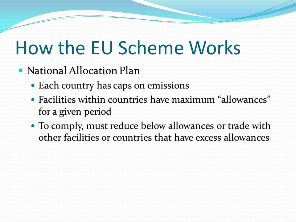 The european union emissions trading system works on what principle
