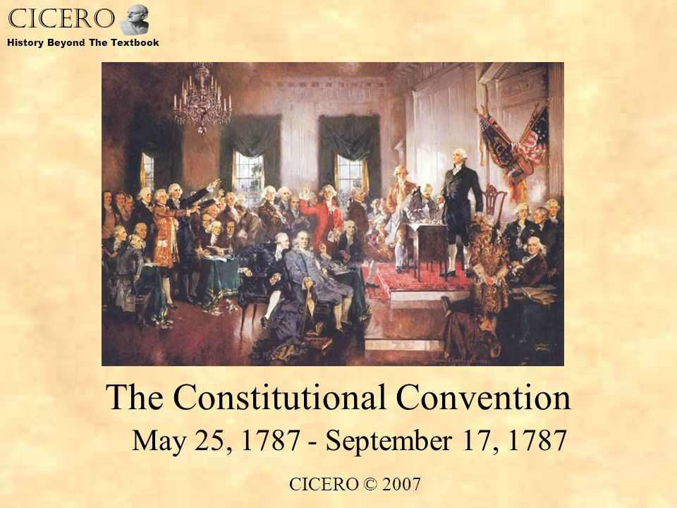 The 1787 constitutional convention essay