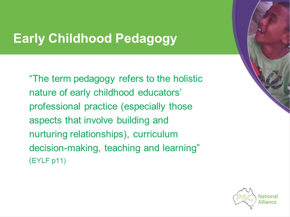 Early Childhood Pedagogy