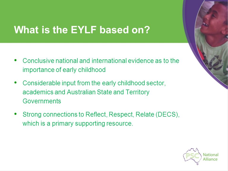 What is the EYLF based on
