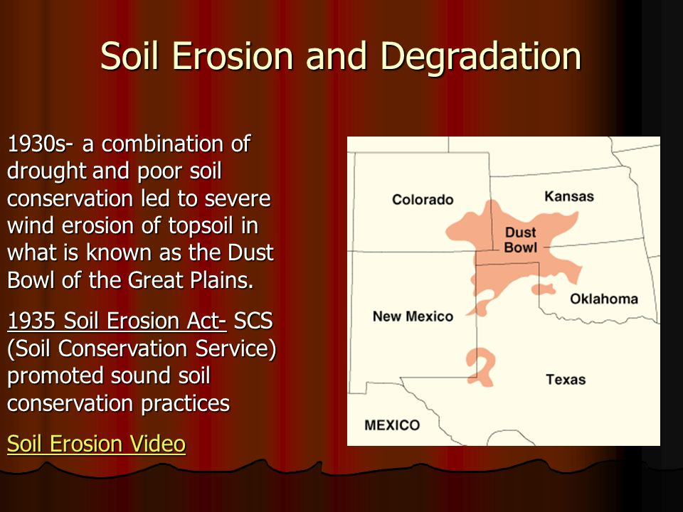Ap environmental science ppt video online download for Soil conservation act