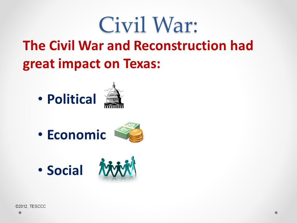 economic consequences of the civil war essay Civil war/ causes of the civil war term (causes of the civil war essay) it would take long years for many people to overcome the consequences of the war.