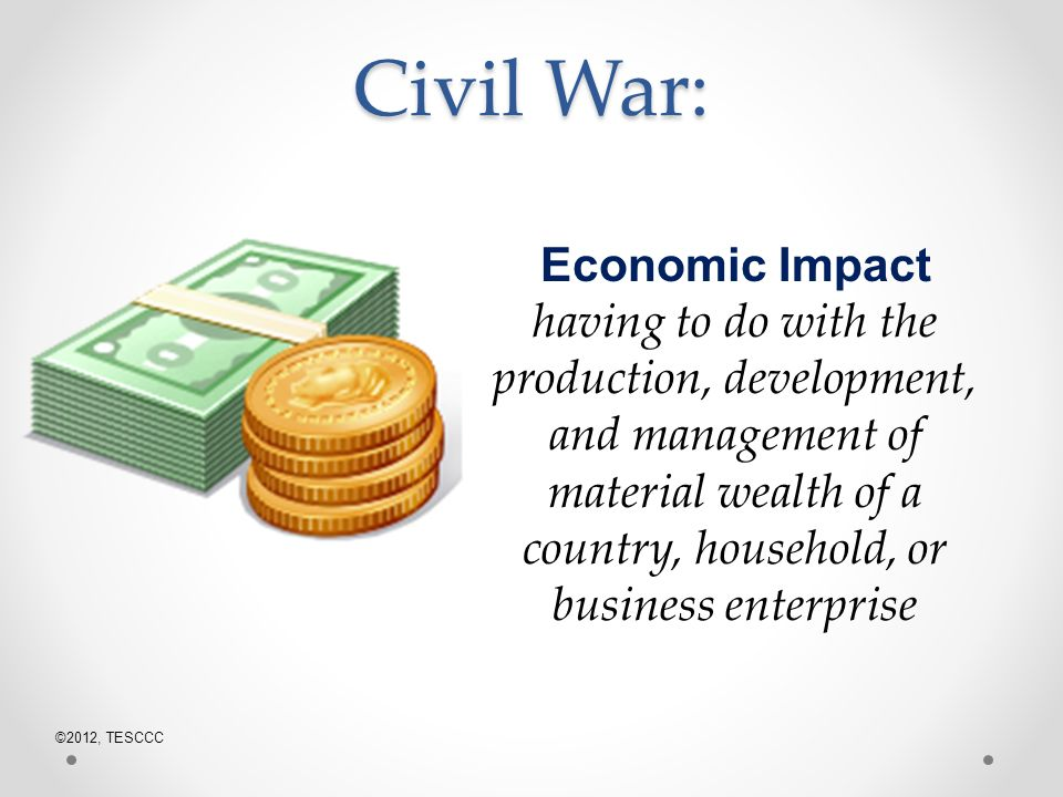 economic impact of the civil war essay Although simple in design, the cotton gin solved a pressing economic problem  and  before and after the introduction of the gin can we appreciate its historic  impact  changed the economics of the south and set a course to the civil war.