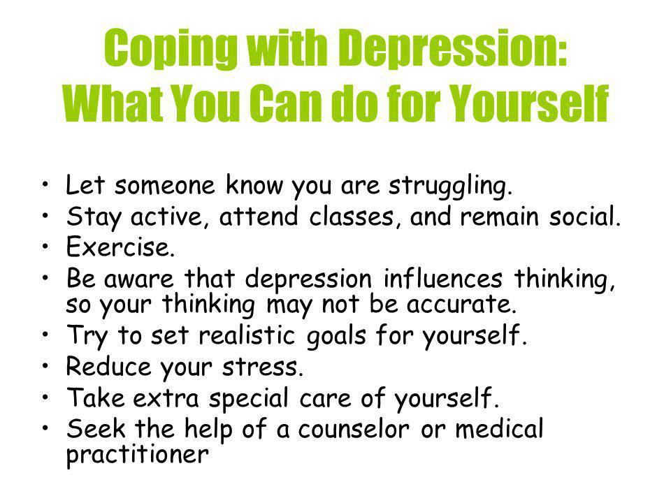 Coping with Depression: What You Can do for Yourself