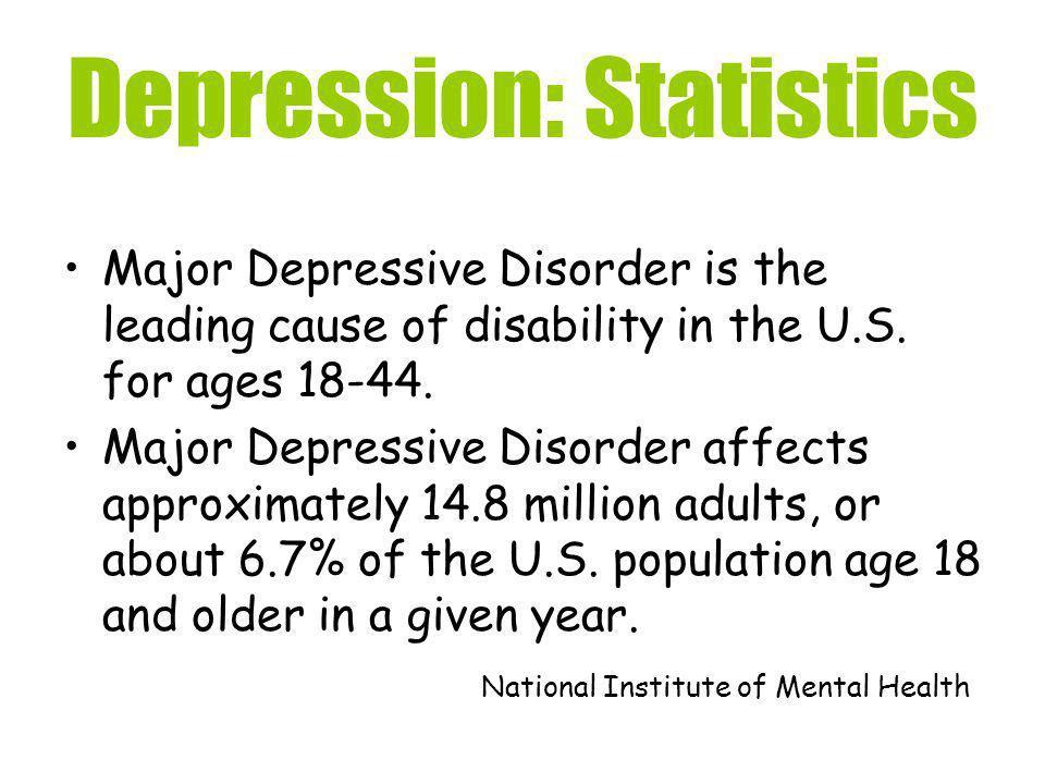 Depression: Statistics