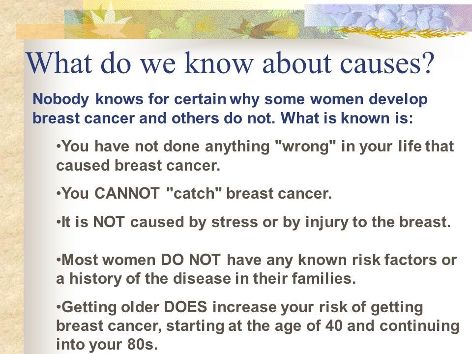 What do we know about causes