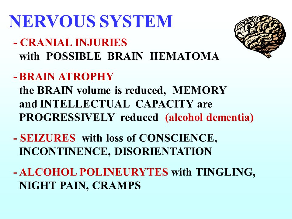 NERVOUS SYSTEM - CRANIAL INJURIES with POSSIBLE BRAIN HEMATOMA