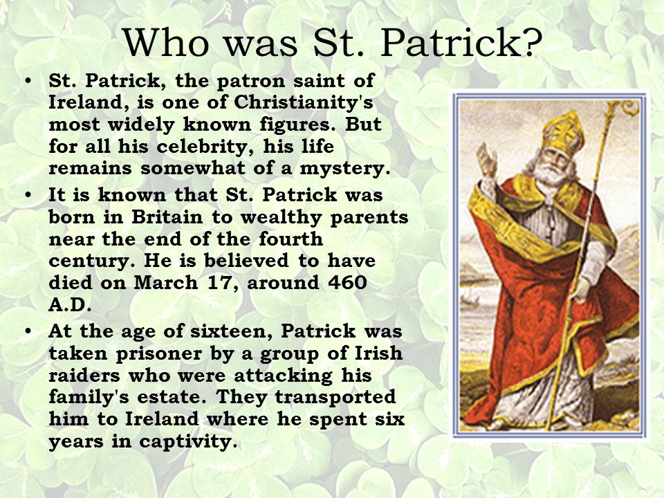 Who was St. Patrick