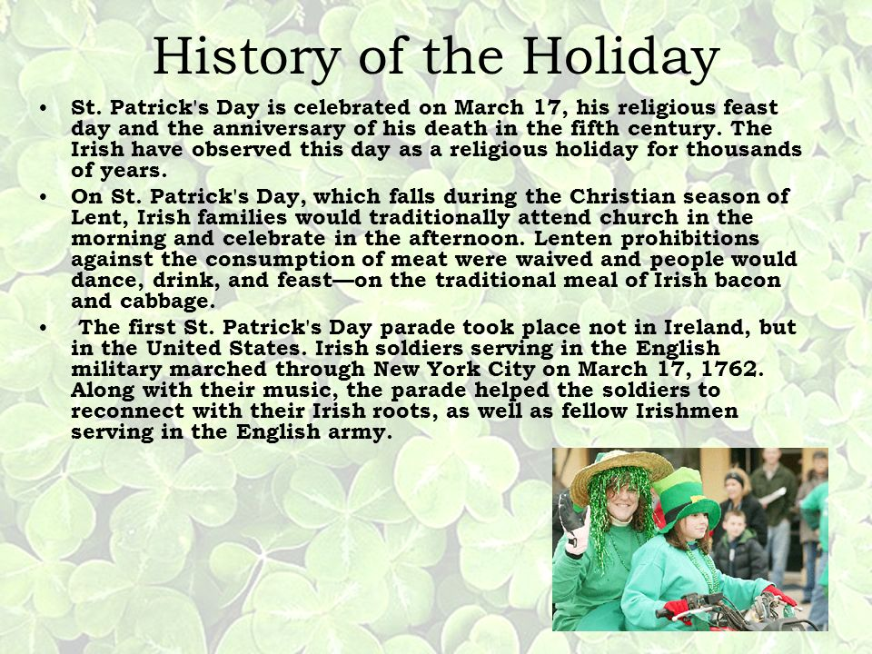 History of the Holiday