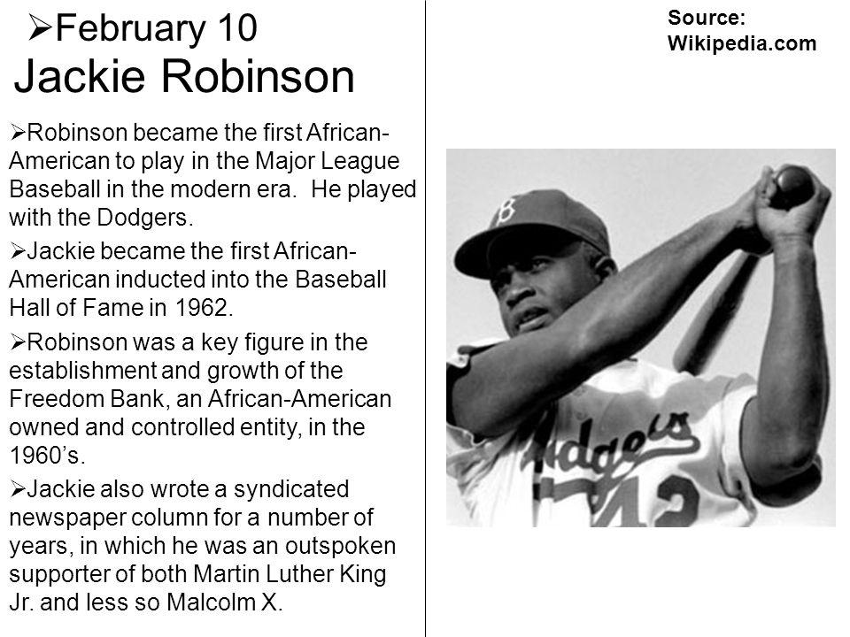 Jackie Robinson February 10