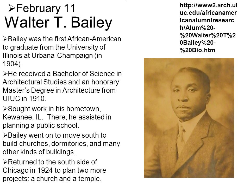 Walter T. Bailey February 11