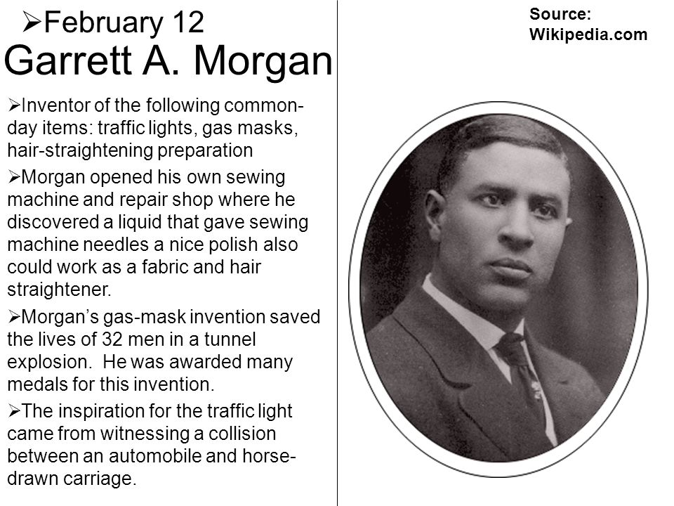 Garrett A. Morgan February 12