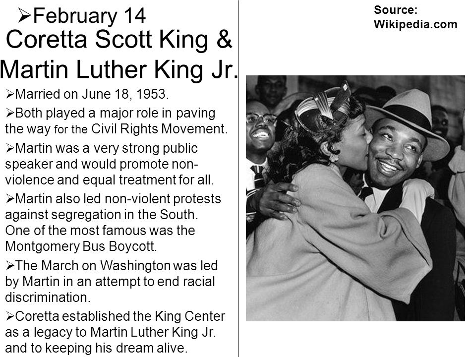 Coretta Scott King & Martin Luther King Jr.