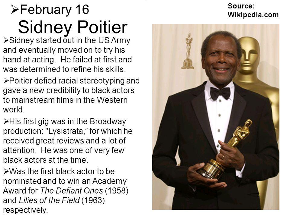 Sidney Poitier February 16