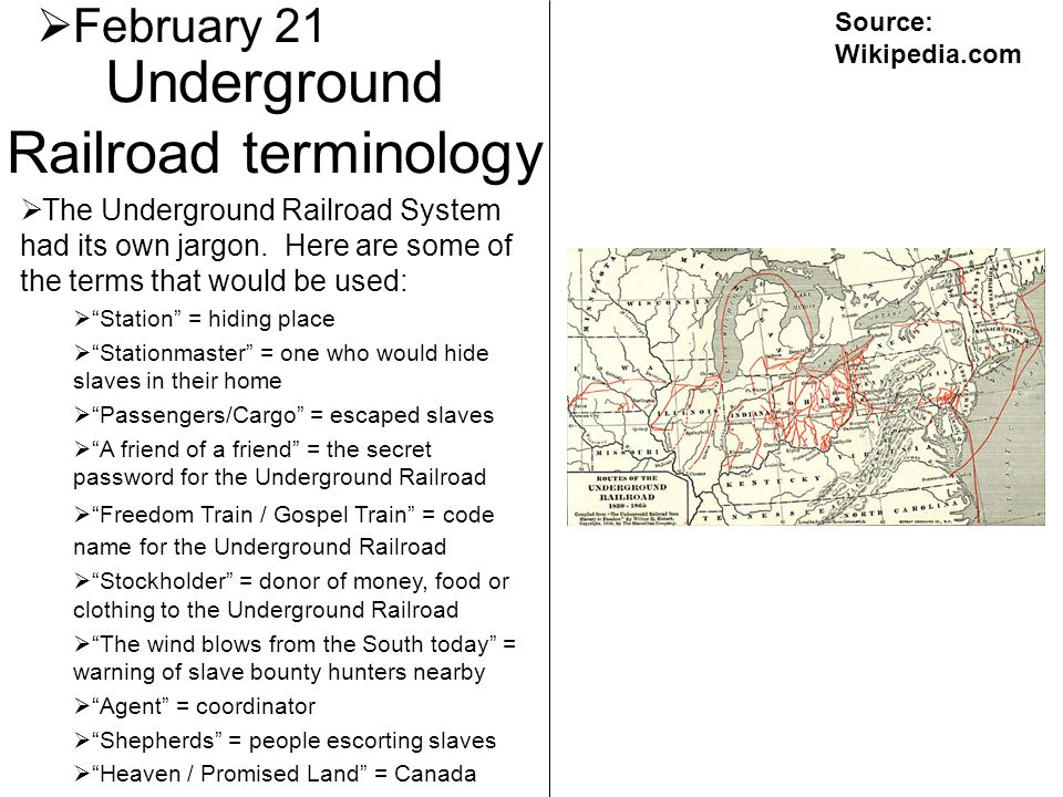 Underground Railroad terminology
