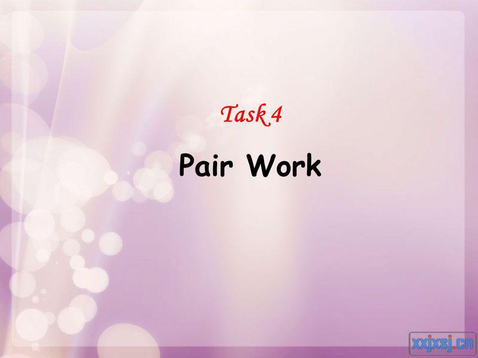 Task 4 Pair Work