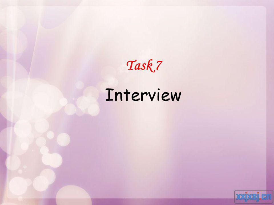 Task 7 Interview