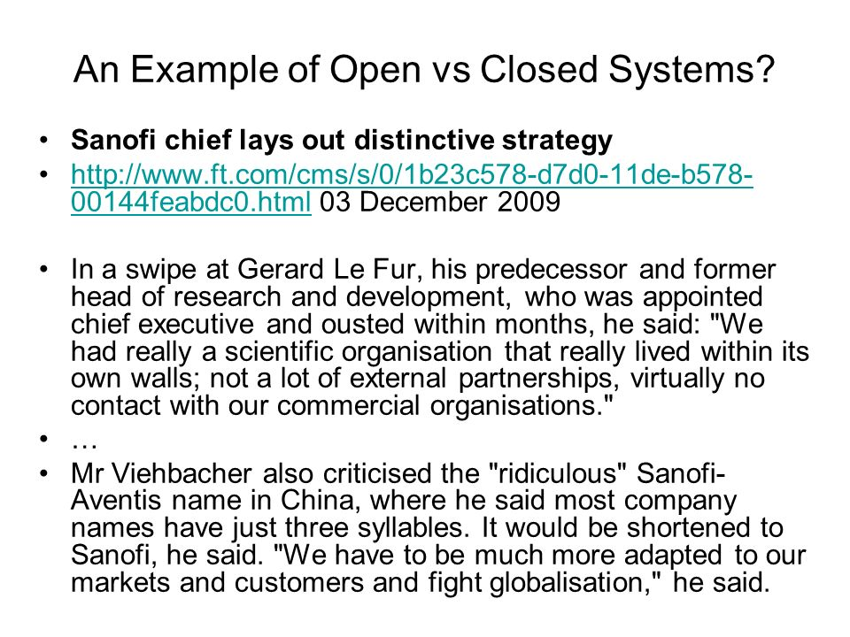 open closed systems essay example Systems theory essay sample  boundaries and open/closed systems  develop, for example, a typology based on the effect of family members shared perceptions .