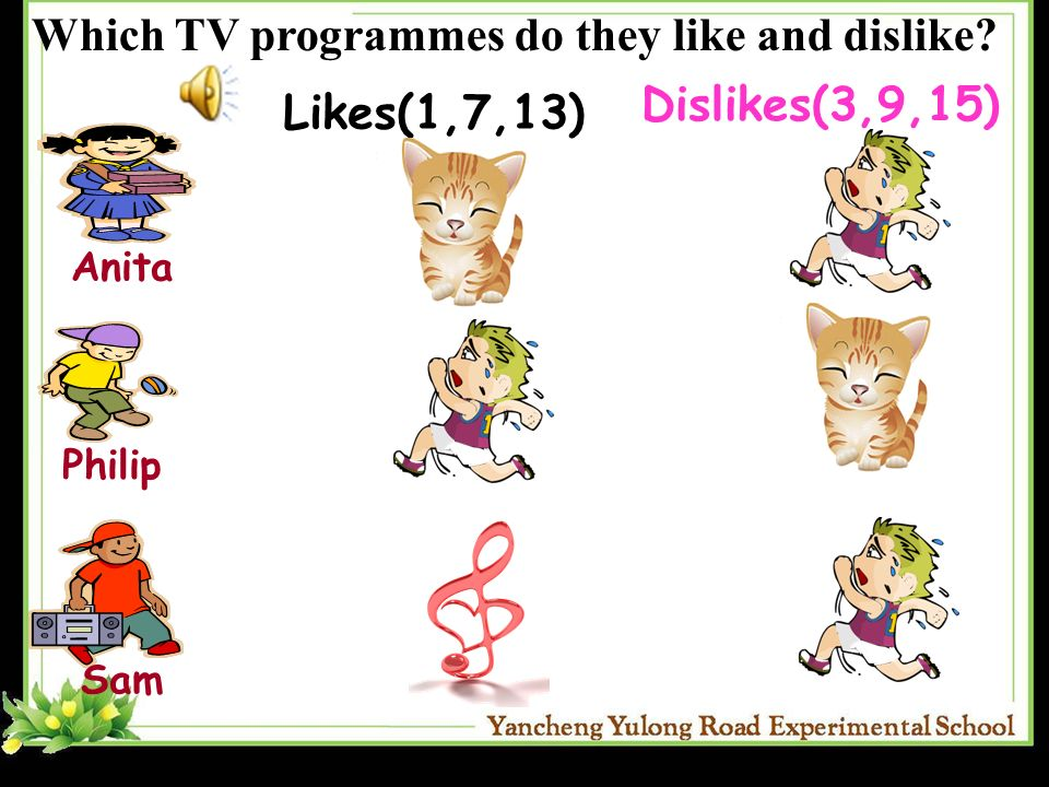 Which TV programmes do they like and dislike