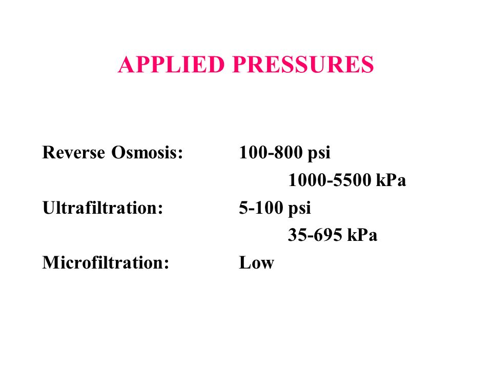 Reverse Osmosis Ultrafiltration Microfiltration Ppt