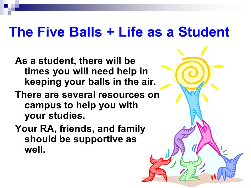 The Five Balls + Life as a Student