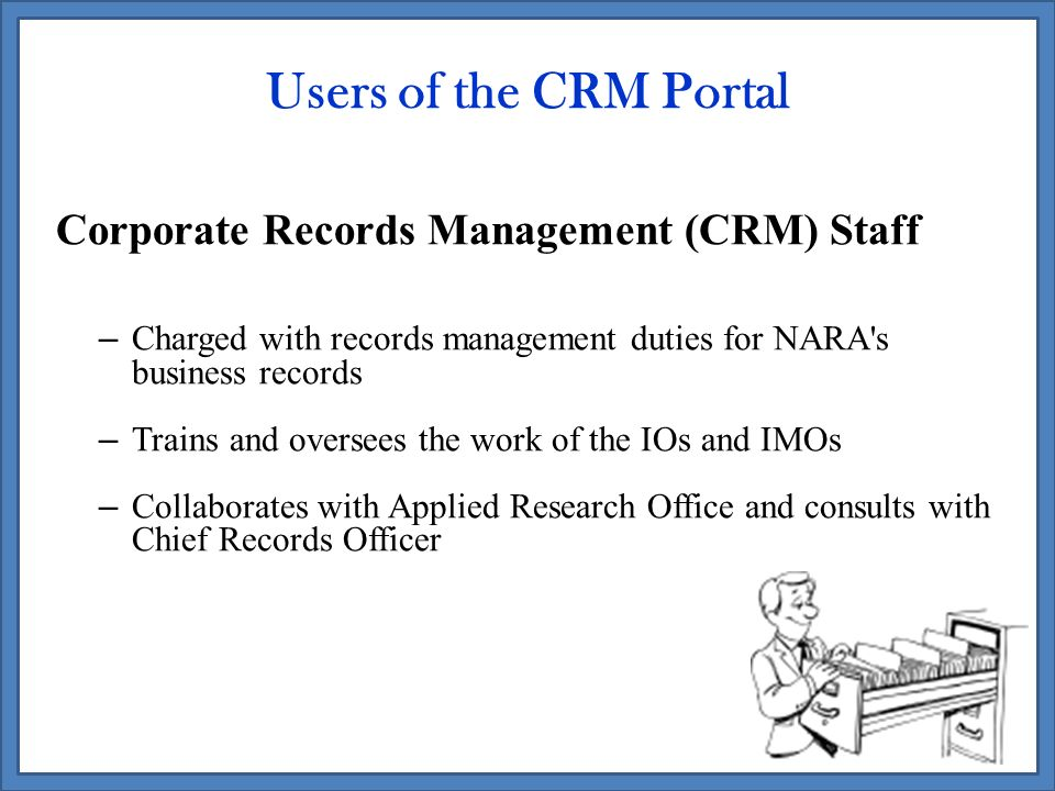 Designing a Corporate Records Management Portal for NARA - ppt ...