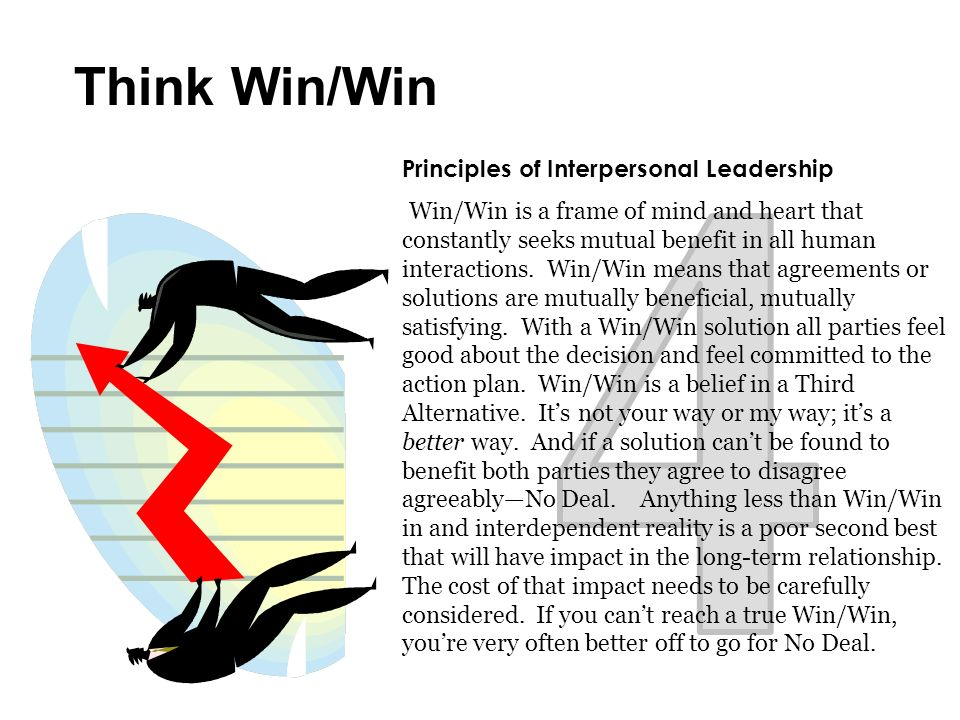 4 Think Win/Win Principles of Interpersonal Leadership
