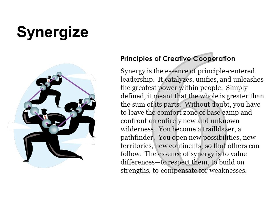 6 Synergize Principles of Creative Cooperation