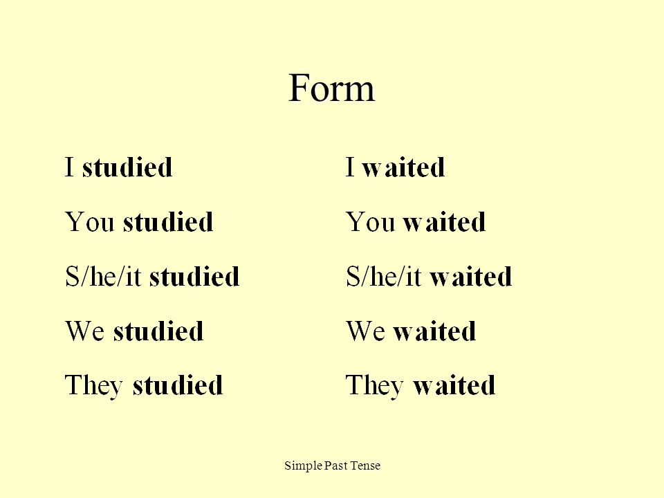 Form Simple Past Tense
