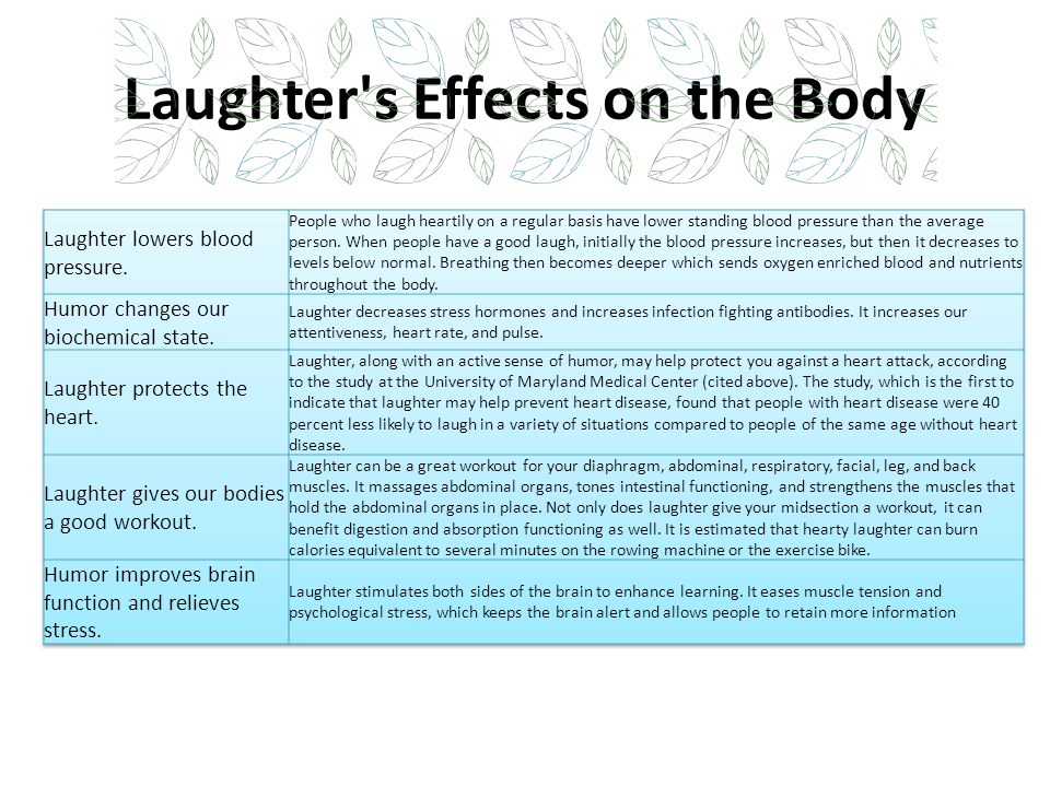 Laughter s Effects on the Body