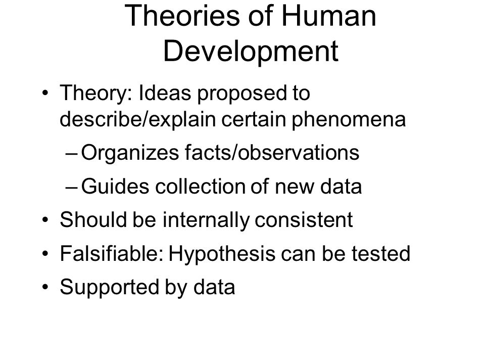 human growth and development theories essay Term papers: human development theories - human development theories in addition to and this change is never more evident than in human growth and development.
