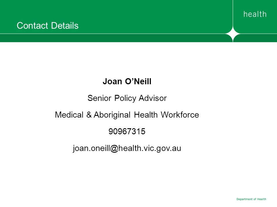 Medical & Aboriginal Health Workforce