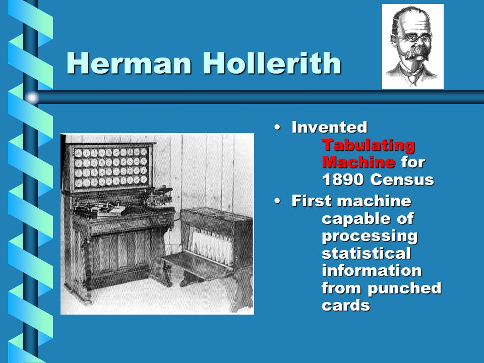 Herman Hollerith Invented Tabulating Machine for 1890 Census