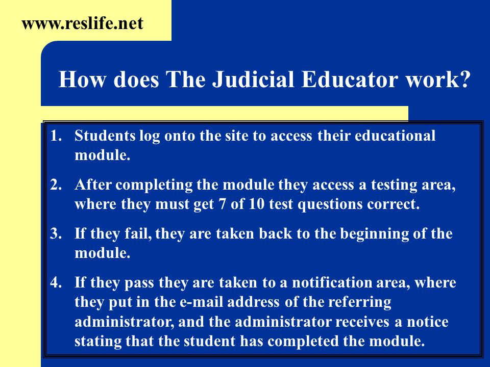 How does The Judicial Educator work