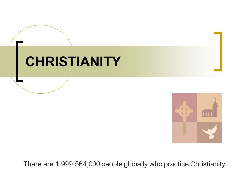 There are 1,999,564,000 people globally who practice Christianity.