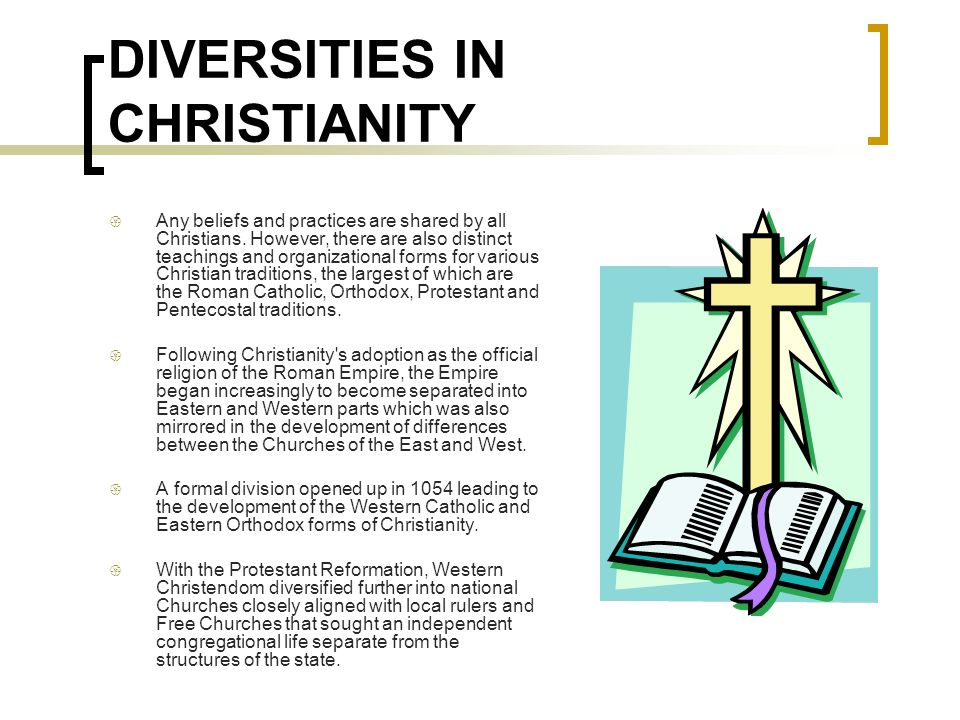 DIVERSITIES IN CHRISTIANITY