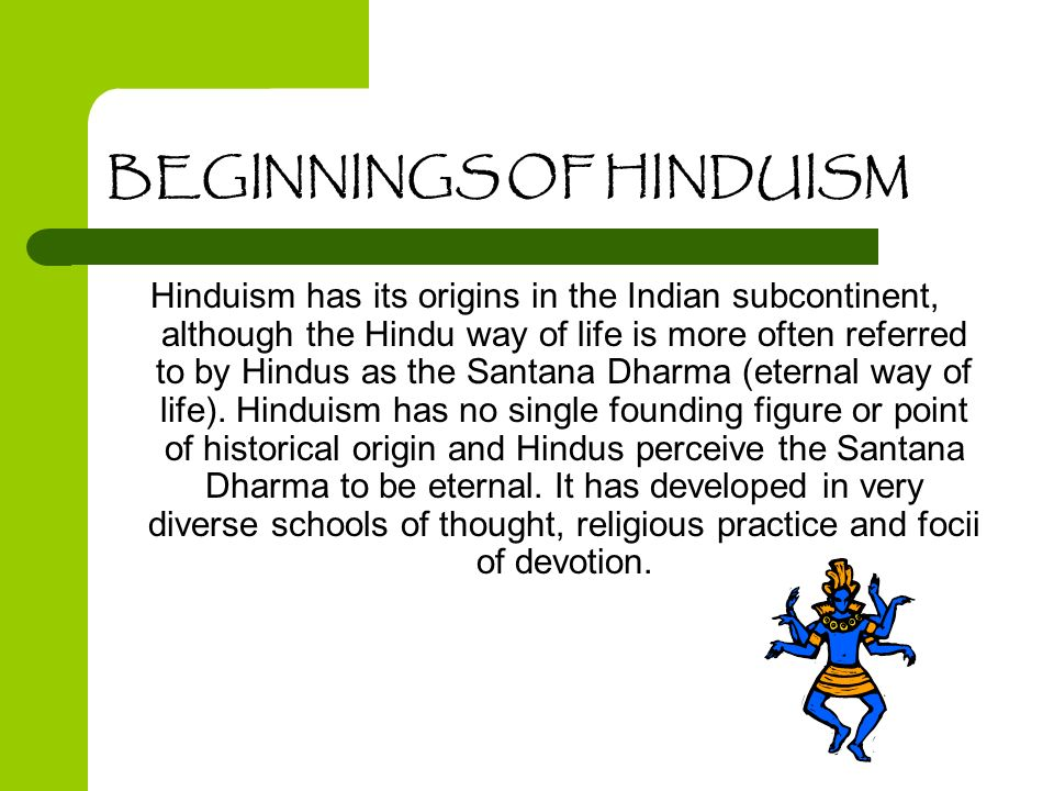 BEGINNINGS OF HINDUISM