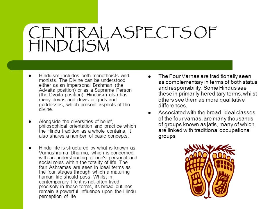 CENTRAL ASPECTS OF HINDUISM