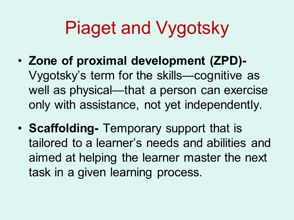 Chapter 9- Early Childhood: Cognitive Development Piaget and ...